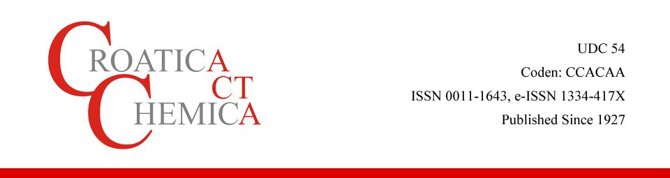 Croatica Chemica Acta