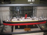 RMS Carpathia, maketa u predvorju PFRI