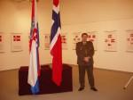 """Otvorenje izložbe """"Norveške zastave"""", Galerija """"Zvonimir"""", Ministarstvo obrane Republike Hrvatske, Zagreb, 17.2.2005."""