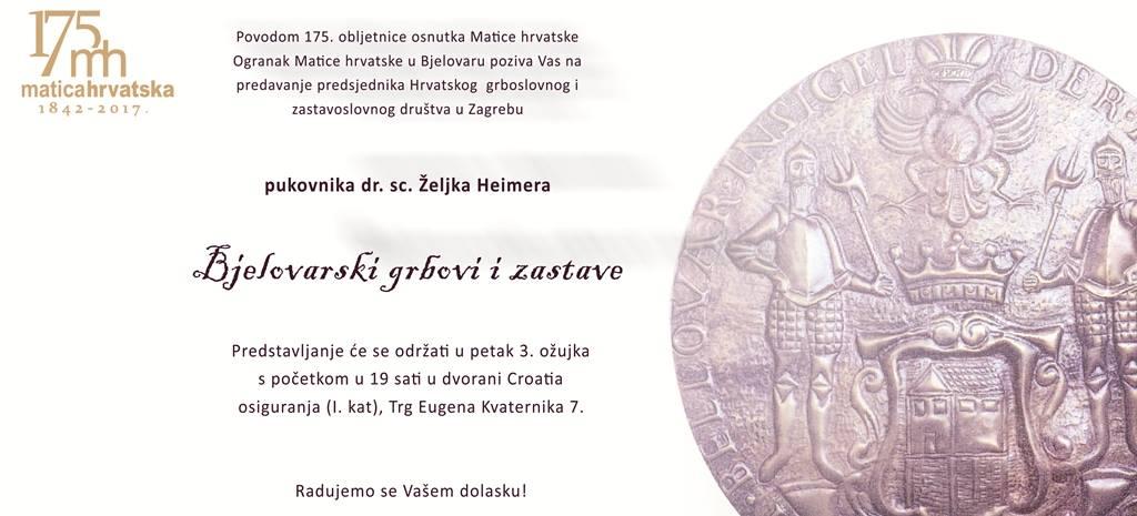Heimer: Bjelovarski grbovi i zastave
