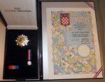 Order of Croatian Daystar with the Effigy of Marko Marulić