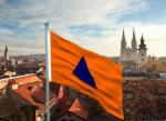 Zastava civilne zaštite nad Zagrebom