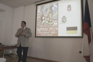 Lecture by LTC Dr. Heimer on the origin and development of the Czech flag