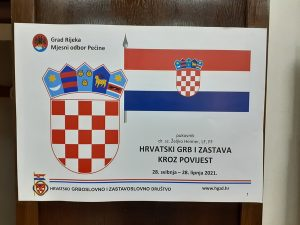 Izložba 'Hrvatski grb i zastava kroz povijest', MO Pećine, Rijeka, 28.5. - 28.6.2021.