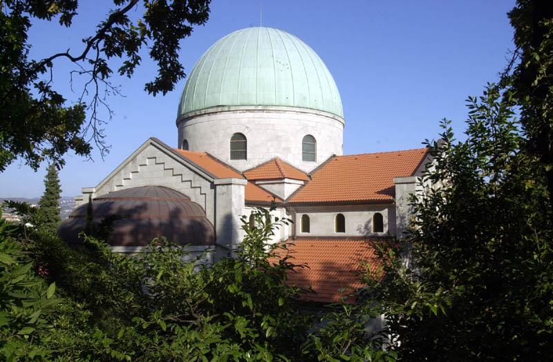 Gornja crkva, Kupola s gornje strane