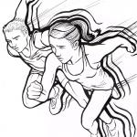Ilustracija velikogoričke kros lige - autorica Petra Zvonar - studentica tekstilnog dizajna, 2013.