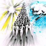 Ilustracija Turopoljske trke - autorica Petra Zvonar, studentica tekstilnog dizajna, 2013